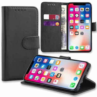Magnetic Leather Flip Wallet Phone Case Cover for Apple iPhone X 8 7 6 5s