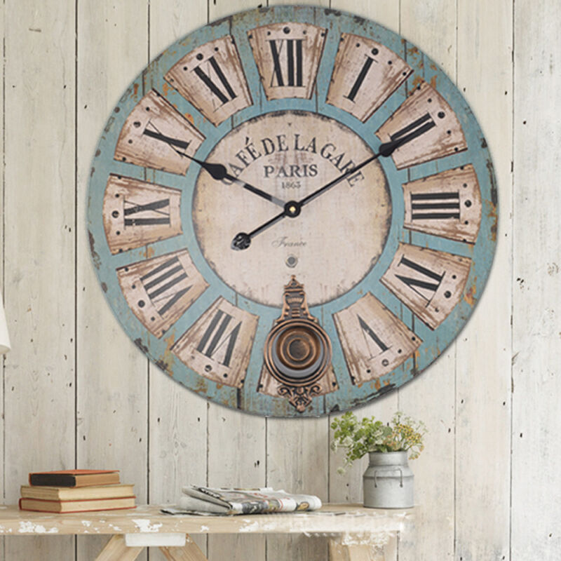 Large Retro Wall Clock Tyres2c