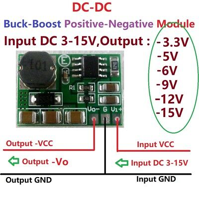 500ma -3.3v 5v 6v 9v 12v 15v - Negative Voltage Dc Dc Converter Boost-buck