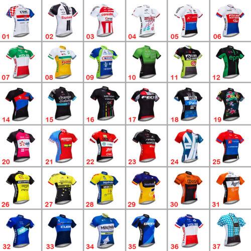 Cycling Jersey Men Team Cycling Short Sleeve Jerseys Bicycle Racing Shirt Pocket