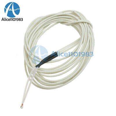 10pcs Reprap Ntc 3950 Thermistor 100k 1 Meter Wire For 3d Printer Bed Hot End