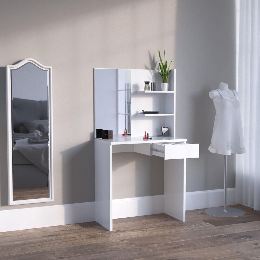 vicco schminktisch dekos wei kosmetiktisch frisierkommode frisiertisch spiegel eur 69 90. Black Bedroom Furniture Sets. Home Design Ideas