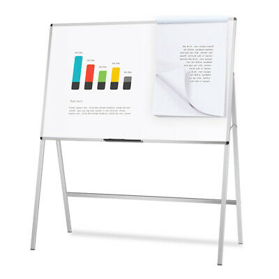 Melamine H-stand Whiteboard Adjustable Dry Erase Board Office Flipchart Easel