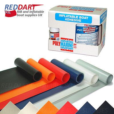 PVC Inflatable Boat Dinghy RIB Repair Kit, 35cm PVC, 2 part PVC Adhesive Glue