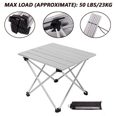 Outdoor Portable Fold Aluminum Roll Up Table Lightweight Camping Picnic with Bag - Table Roll
