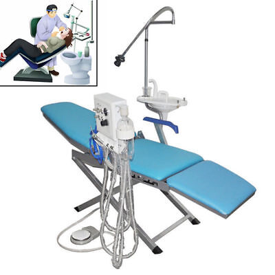 Dental Portable Folding Chair Led Light Turbine Unit 4h Weak Suction Handpiece