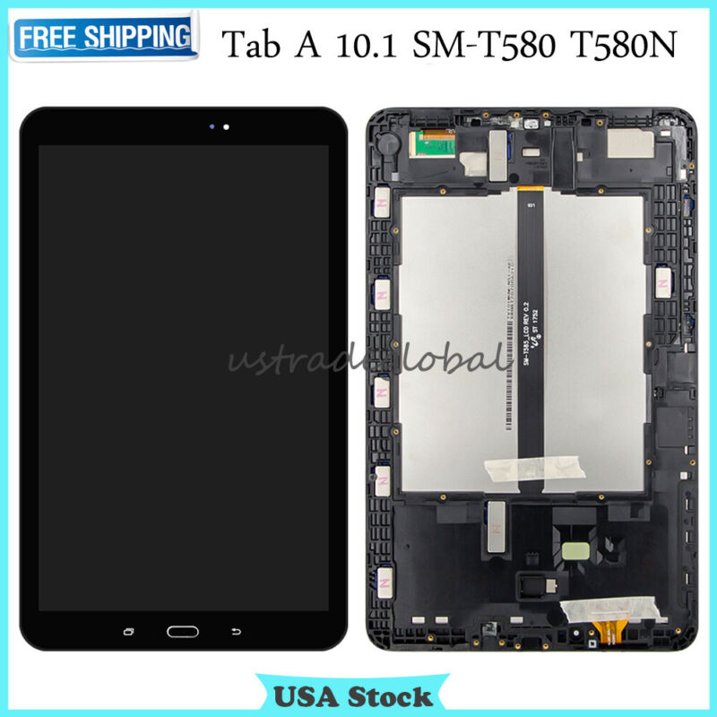 Replace LCD Touch Screen Digitizer Frame For Samsung Galaxy Tab A 10.1 SM-T580 N