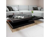 Coffee Table New York 2.5x2.5ft Black - rotatable