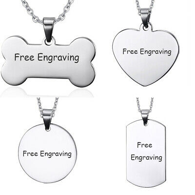Personalized Men Women Name Necklace Pendant Dog Tag Custom Free Engraved Gift - Personalized Gift
