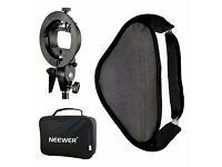 "BRAND NEW Neewer Photo Studio Multifunctional 32x32"" (80x80cm) Softbox With S-type Speedlite Flash"