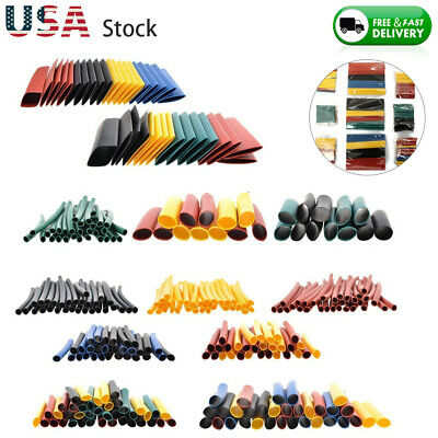 Lot 328pc Heat Shrink Tube Assorted Insulation Shrinkable Tube Wire Cable Sleeve