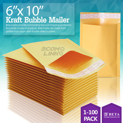 0 6x10 Kraft Bubble Mailer Self Seal Shipping Bag Envelope 2550100 6x10