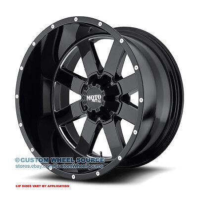 "20"" Moto Metal 962 Black Rims w/ Gladiator 35X12.50R20 Off Road Wheels and Tires"