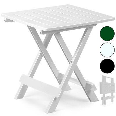 Weiße Terrasse Tisch (Klapptisch Beistelltisch Terrassen Camping Tisch Klappbar grün weiß schwarz)