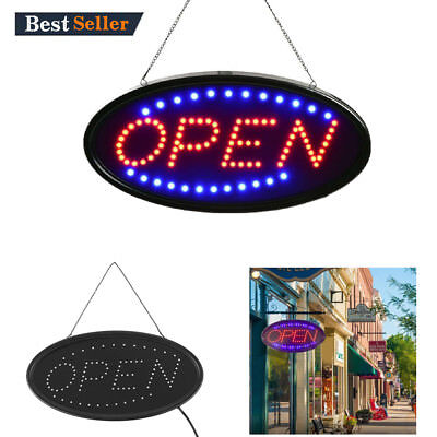 Ultra Bright Led Neon Light 19x10animated Motion Open Business Sign With Onoff