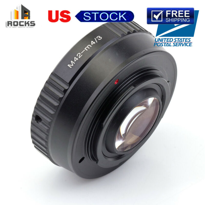 Speed Booster Focal Reducer Lens Adapter Suit For M42 Lens to Micro Four 4/3