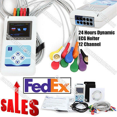 Us Fda 12 Channel Dynamic Ecg Ekg Holter 24hours Ekg Analysis Recordersoftware