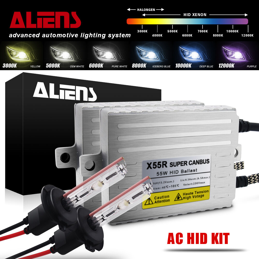 Light Blue Innovited Premium AC Canbus Error Free HID Lights H1-10000K No Flicker 2 Year Warranty
