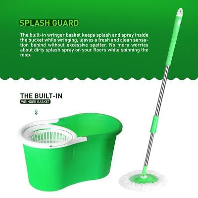 Stainless Steel 360spin Mop Bucket Set Foot Pedal Rotating Magic Floor Mop