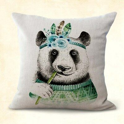 US SELLER, decorative pillow cases panda animal eating bamboo cushion cover Bamboo Decorative Pillow
