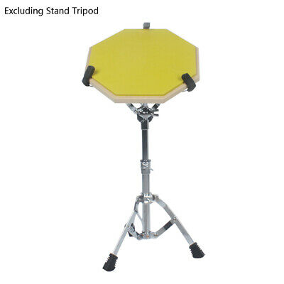 Rubber Wooden Adjustable Drum Practice Pad Stand Set 8inch Size Yellow