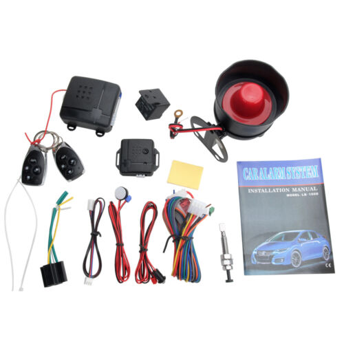 Keyless Entry Car Alarm Security System, 2 Key Fob Remote Controls