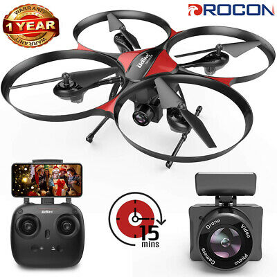 DROCON U818PLUS RC 150m Selfie Drone with 720P HD Camera FPV LED WIFI Quadcopter