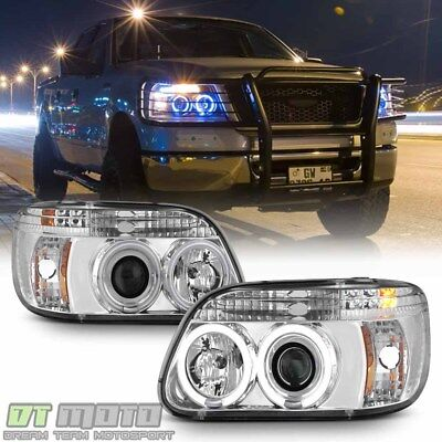 - 1995-2001 Ford Explorer LED Halo Projector Headlights w/Built-In Signal Lamps