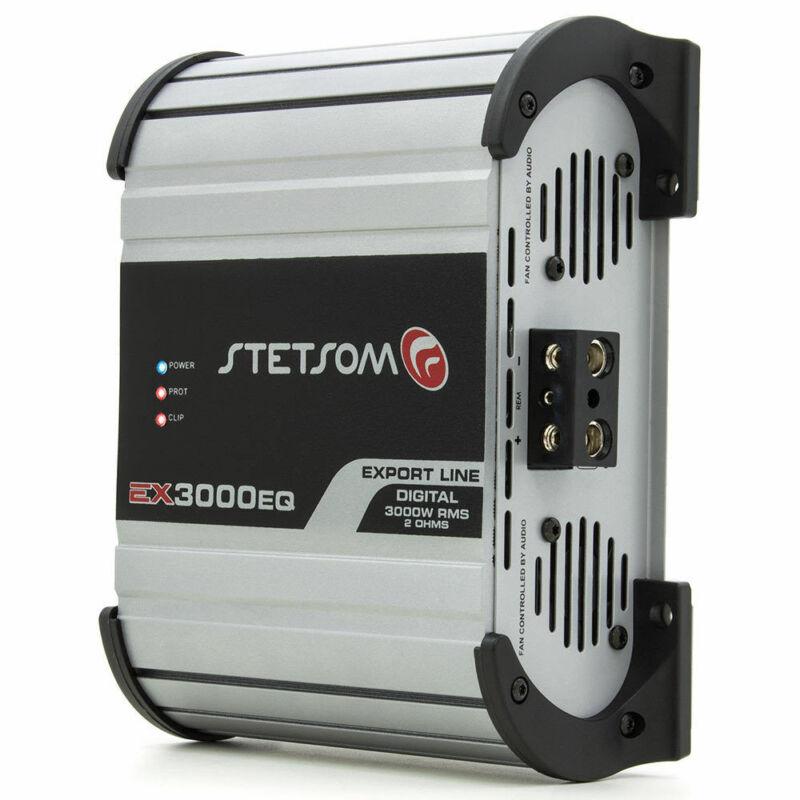 Stetsom EX3000 EQ 2 Ohms - 3K Car Audio 3600w Amp Built-In EQ SHIPS FROM USA