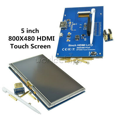 5 Inch 800x480 Hdmi Lcd Display Touch Screen For Raspberry Pi Pi2 Model B A