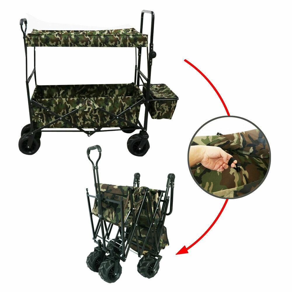Outdoor Gardening Collapsible Folding Utility Wagon Kids Car