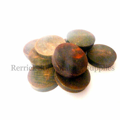 TEN WATER BUFFALO HORN SPACERS BLACK WITH REDDISH HUE