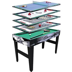 Multi Game Table Convertible Kids Hockey Pool Wood Board Billard Bean Bag Fun