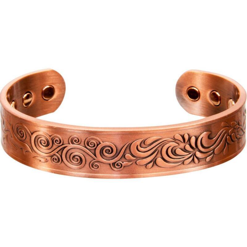 Adjustable Magnetic Antiqued Copper Bracelet with 4 Elements Design!