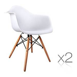 Set of 2 Replica Eames Cafe Chairs Beech White Sydney City Inner Sydney Preview