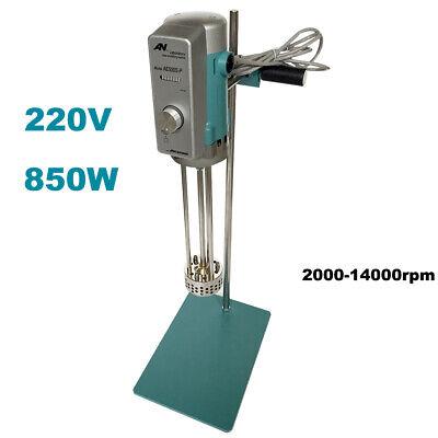 New 220v 850w High Speed Shear Mixer Mixing Emulsifying Machine Lab Homogenizer