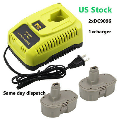 2x DC9096 DC9099 for Dewalt 18v Battery 3.0Ah and 1 7.2v to 18v DC9310 Charger
