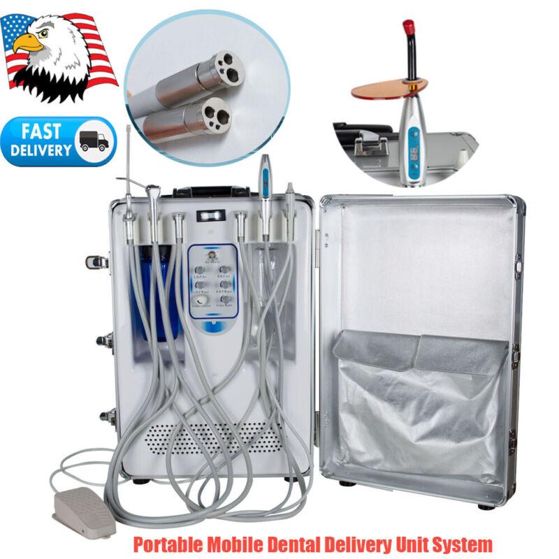Portable Dental Delivery Rolling Suit Case Unit Mobile Compressor Turbine Scaler