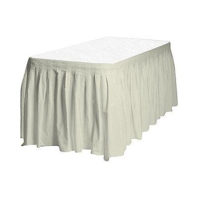 2 Plastic Table Skirts 13' X 29