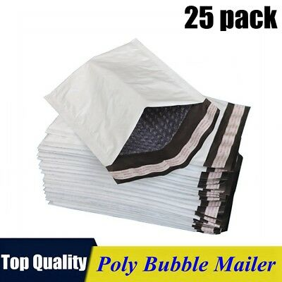 25pack 0 6x10 Poly Bubble Mailers Padded Envelope Shipping Supply Bags 6x10