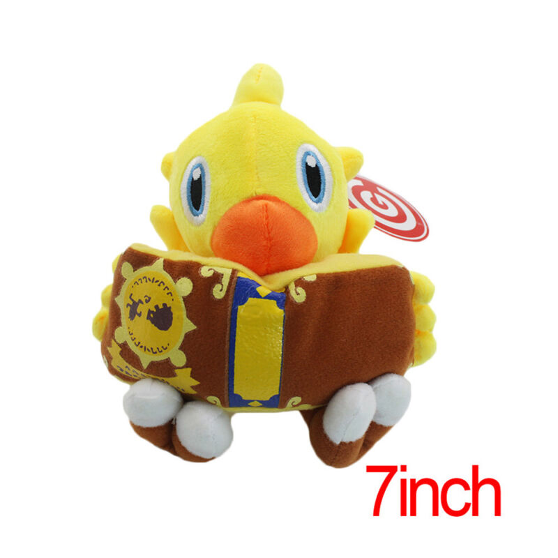 Final Fantasy VII 7 CHOCOBO Magic Book 18cm Plush Toy Soft Doll Game Collectible