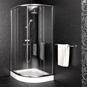 Viertelkreis Duschkabine 90x90cm Duschtasse Duschabtrennung Duschwanne Dusche