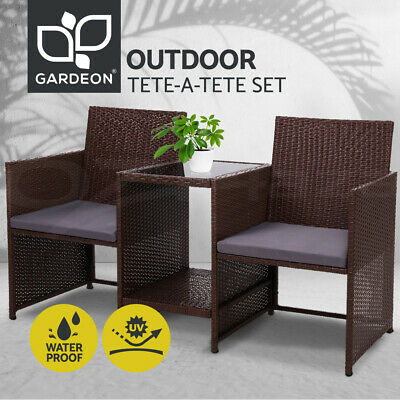 Garden Furniture - Gardeon Outdoor Chairs Table Patio Furniture Wicker Birstro Set Loveseat  Garden