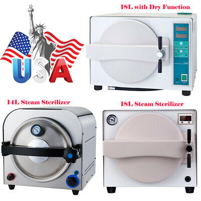 1418l Dental Autoclave Steam Sterilizer Dry Heat Sterilizer Drying Function