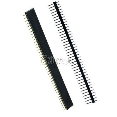 10pcs 2.54mm Malefemale 40pin Header Socket Single Row Strip Pcb Connector Cool