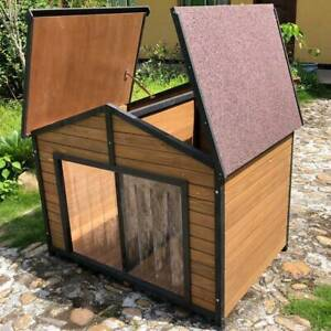Extra Extra Large Double Door Two Dog XXL Kennel Pet House Home P