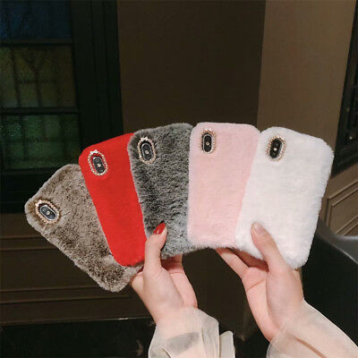 Faux Fluffy Vill Warm Fur Plush Luxury Case Cover For iPhone Xs Max 6 6s Plus