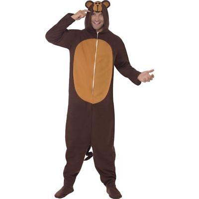 Smi - Unisex Kostüm Affe Schimpanse Affenkostüm Karneval Fasching