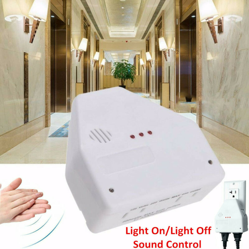 Clapper Sound Activated Clap On/Off Light Switch Wall Socket Outlet Adapter US
