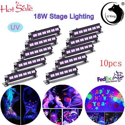 10PCS UV Wash 6LED Wall Stage Lighting Beam Strobe Uplighting - Blacklight Strobe